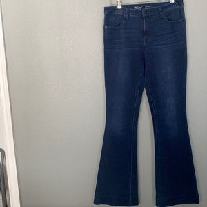 Mossimo High Rise Stretch Flare Jeans Size 10